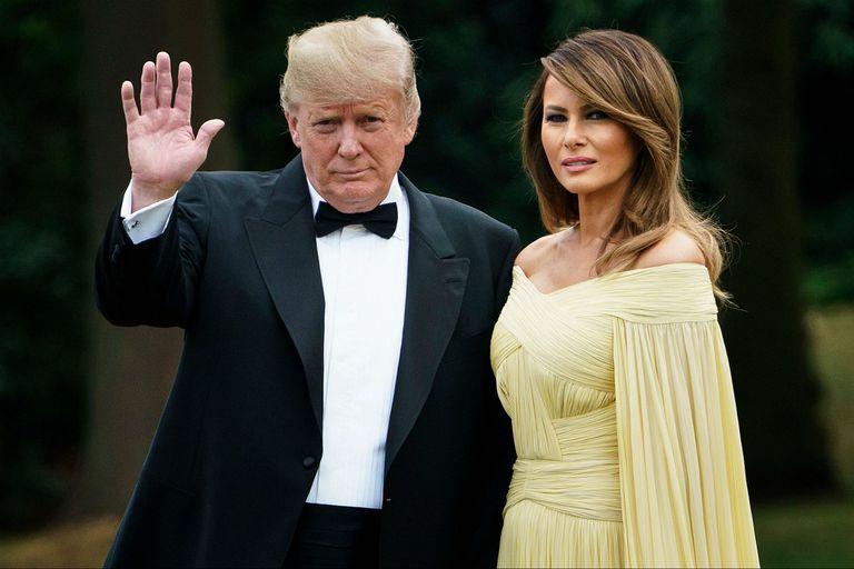 Trump y Melania, en la residencia del embajador norteamericano en Gran Bretaña