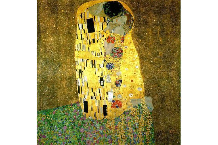 Una de las obras más visitadas gracias al formato de gigapíxeles es El beso, de Gustav Klimt.
