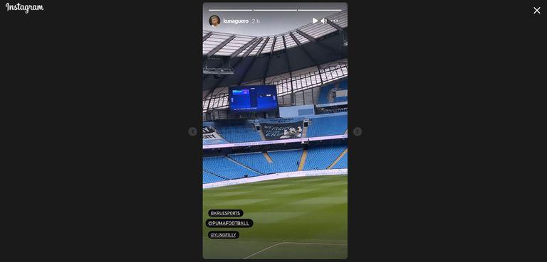 El particular desafío de FIFA del Kun Agüero en el estadio del Manchester City
