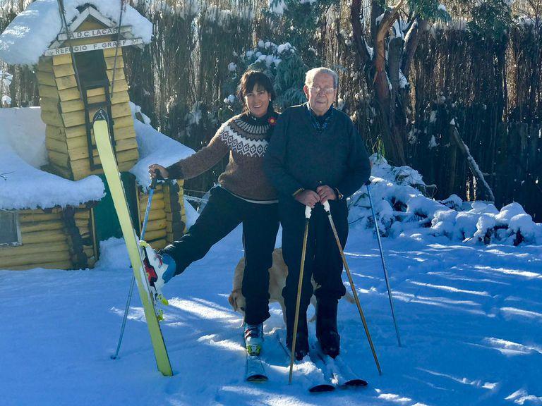 Tiene 98 años, fue pionero del esquí en la Patagonia e hizo rescates épicos