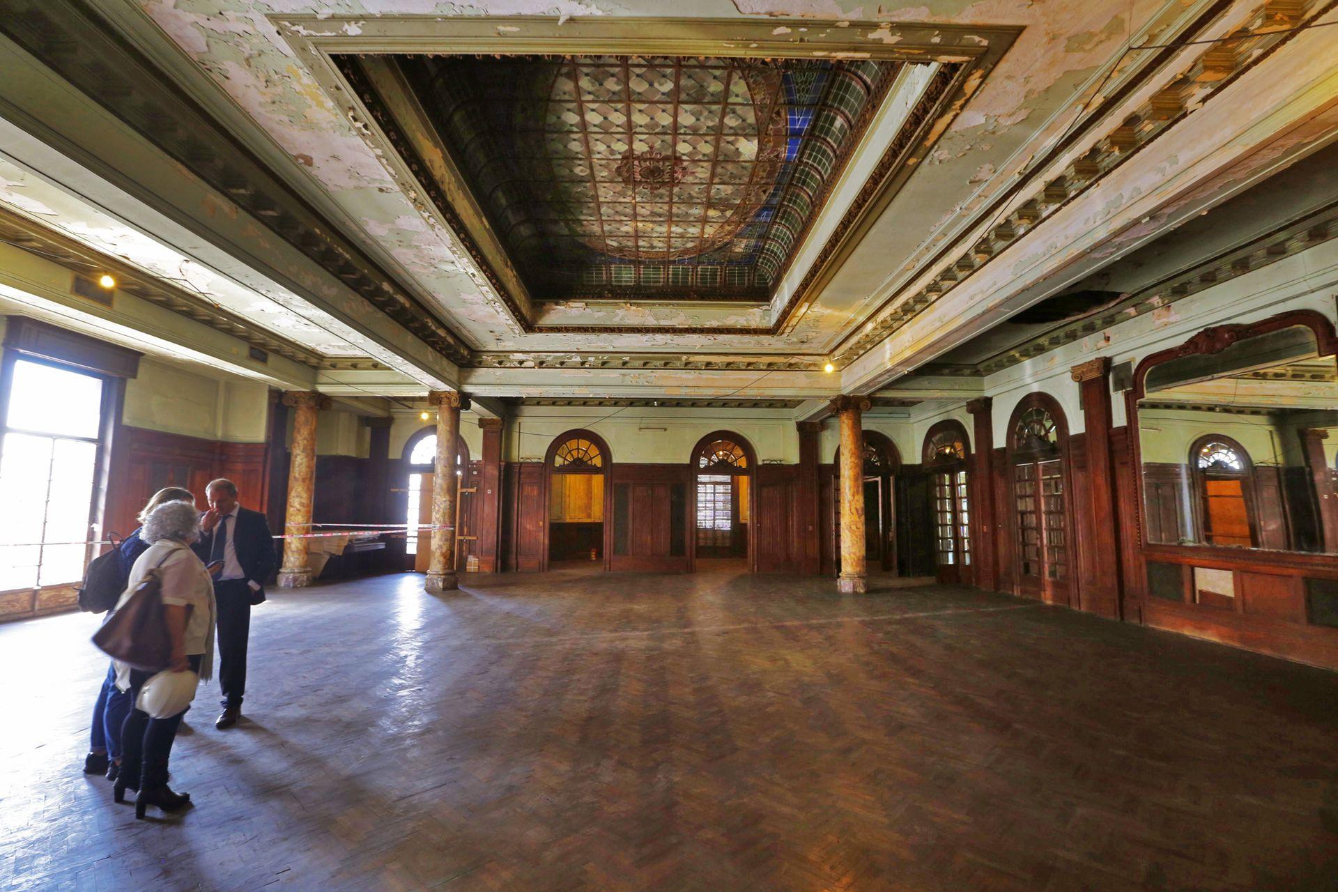 El salón de baile del primer piso, al que se podrá acceder el 10 de noviembre