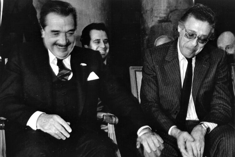 Raúl Alfonsin y Juan Vital Sourrouille