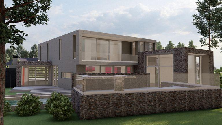 Cómo es: Una casa tiene 400m2 y consume menos energía que un secador de pelo