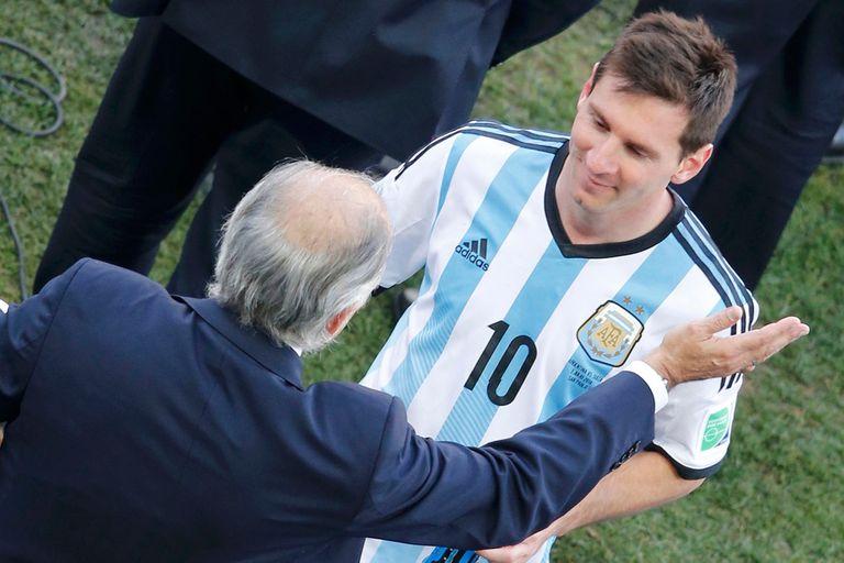 Messi y Sabella, en una imagen del Mundial Brasil 2014.