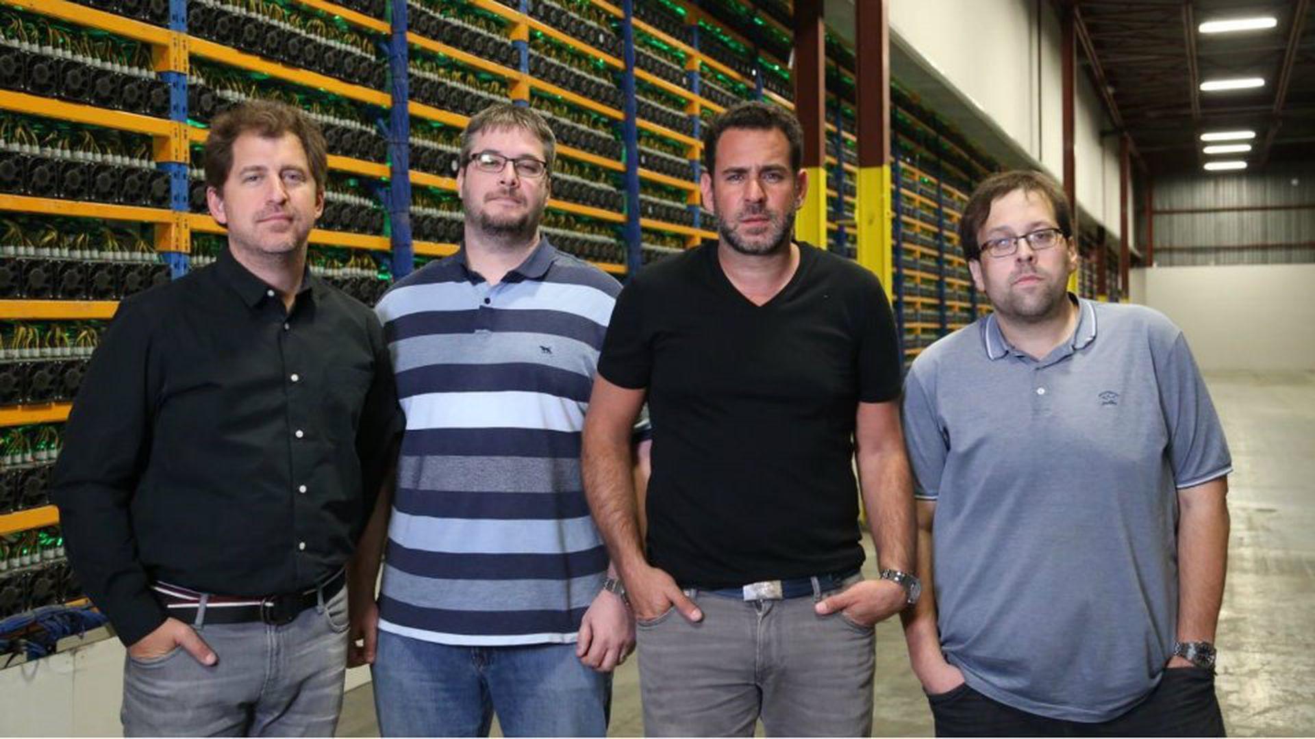 Nicolás Bonta, Mathieu Vachon, Emiliano Grodzki y Pierre-Luc Quimp (Bitfarms)