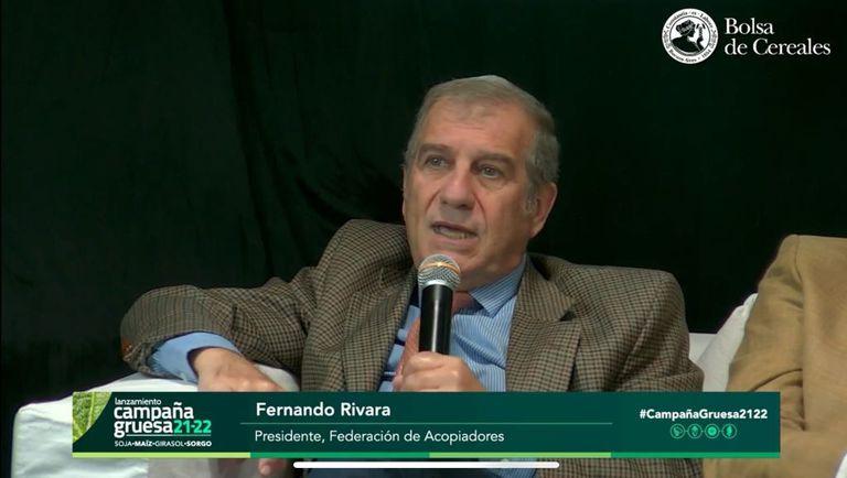 Fernando Rivara, presidente de la Federación de Acopiadores de Granos