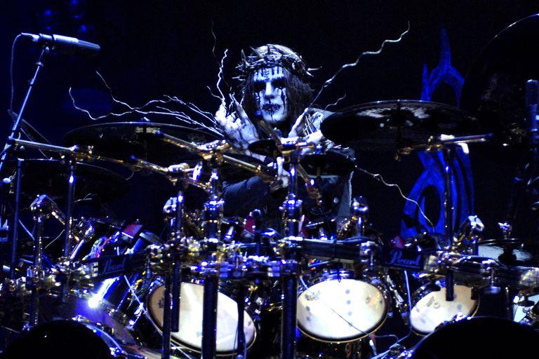 Joey Jordison, en sus tiempos de baterista de Slipknot