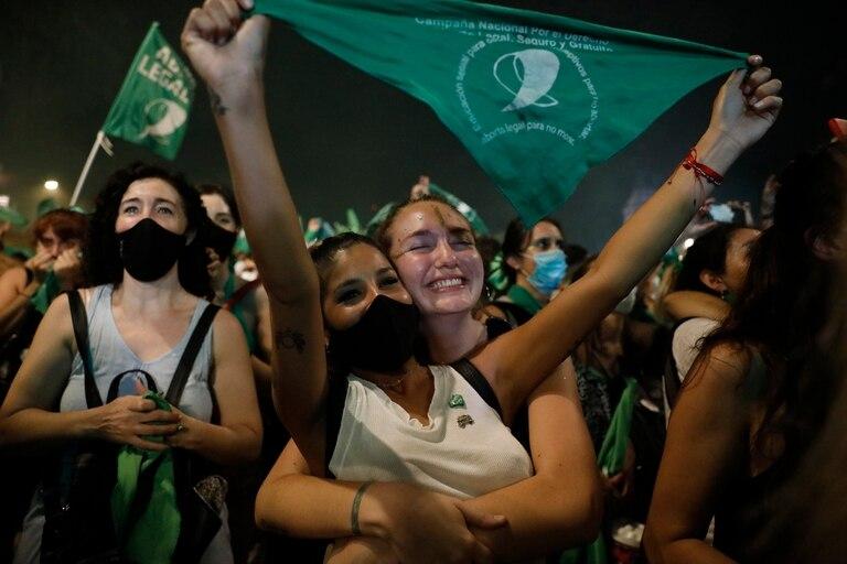 Legalización del aborto: las imágenes de la vigilia