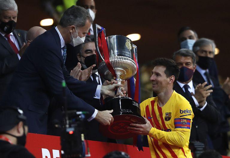 La Copa del Rey de 2021 fue la última conquista que el argentino tuvo en Barcelona. Con el nuevo acuerdo buscará que sean muchos más los títulos que obtenga en el club