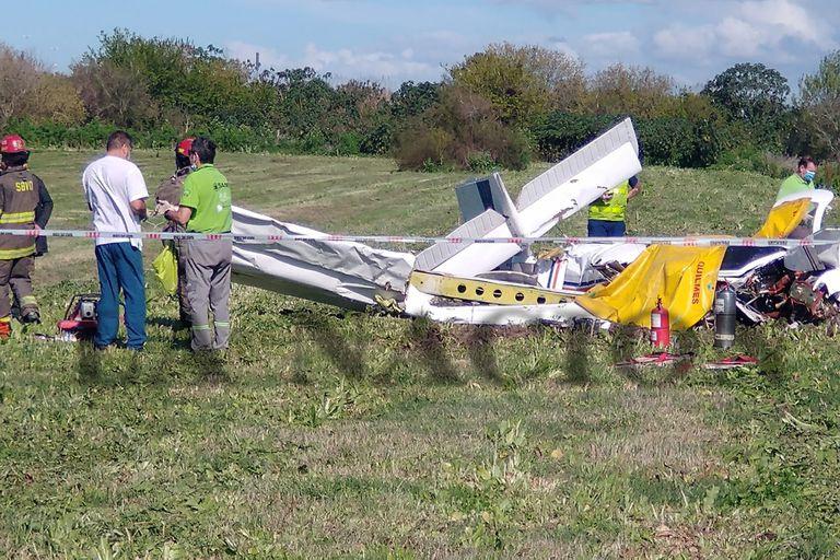 El avión siniestrado en Berazategui