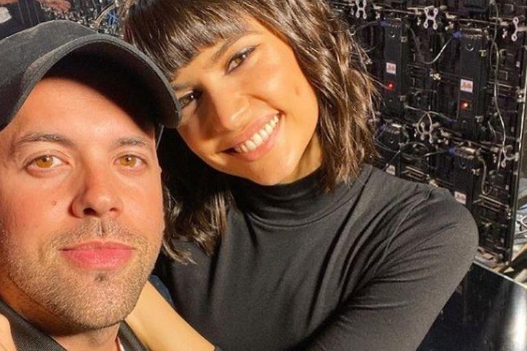 Antón junto al coreógrafo y expareja Matías Napp, en su vuelta al programa de eltrece