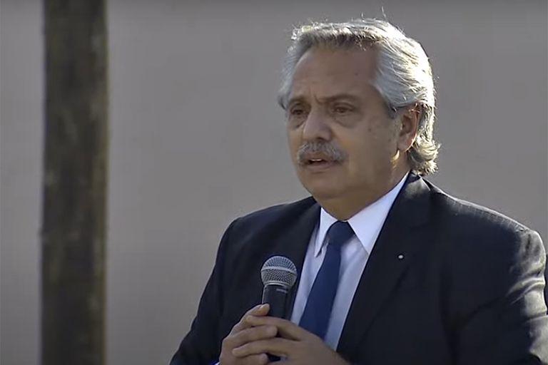 """El presidente Alberto Fernández. La cadena de la carne lo invitó a """"repensar y levantar las restricciones"""""""