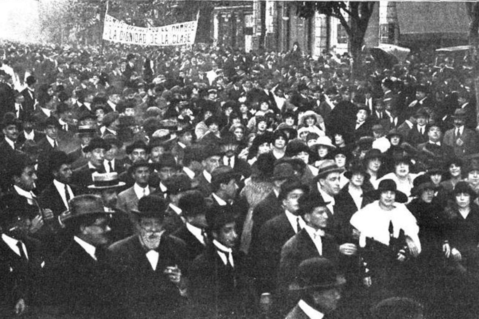 La histórica huelga de artistas, en 1919