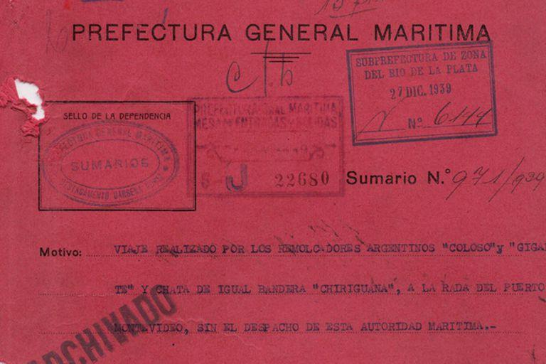 El sumario iniciado por la Prefectura tras el rescate encubierto de los tripulantes del Graf Spee