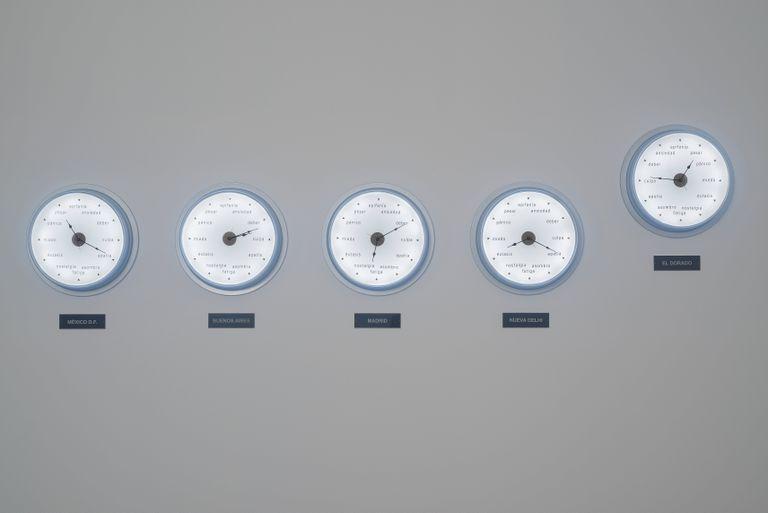 Aquí, en otro lugar (rueda de escape), instalación, 2009/2014