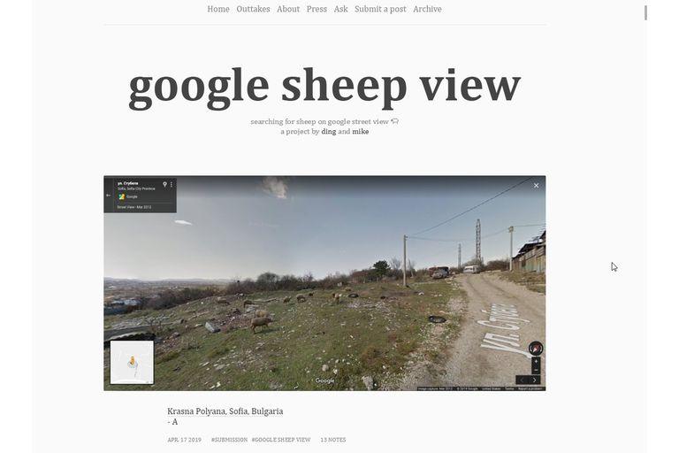 Un mashup de caprinos y Street View