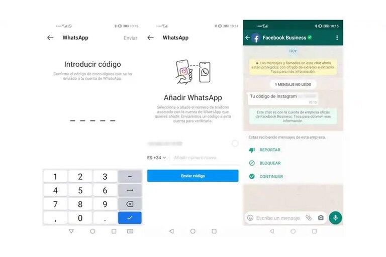 La función de integración requiere registrar el número de WhatsApp, validado mediante un código enviado por SMS, y funciona con la aplicación de chat instalada en el teléfono