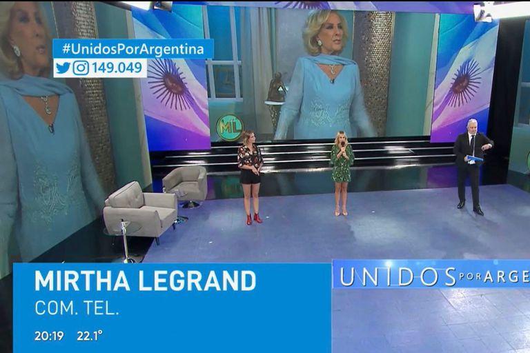 Unidos por Argentina y la participación de Mirtha Legrand desde su casa