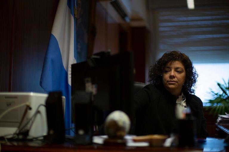 Carla Vizzotti en su antiguo despacho del Ministerio de Salud