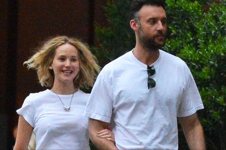 Jennifer Lawrence, de novia con el comerciante de arte Cooke Maroney