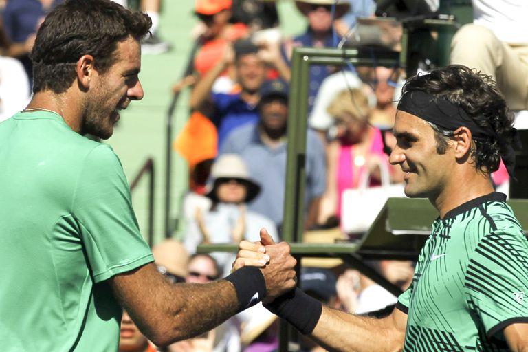 Federer y Del Potro: el frente a frente que no podrá ser en Buenos Aires. En diciembre de 2012 jugaron en Tigre.