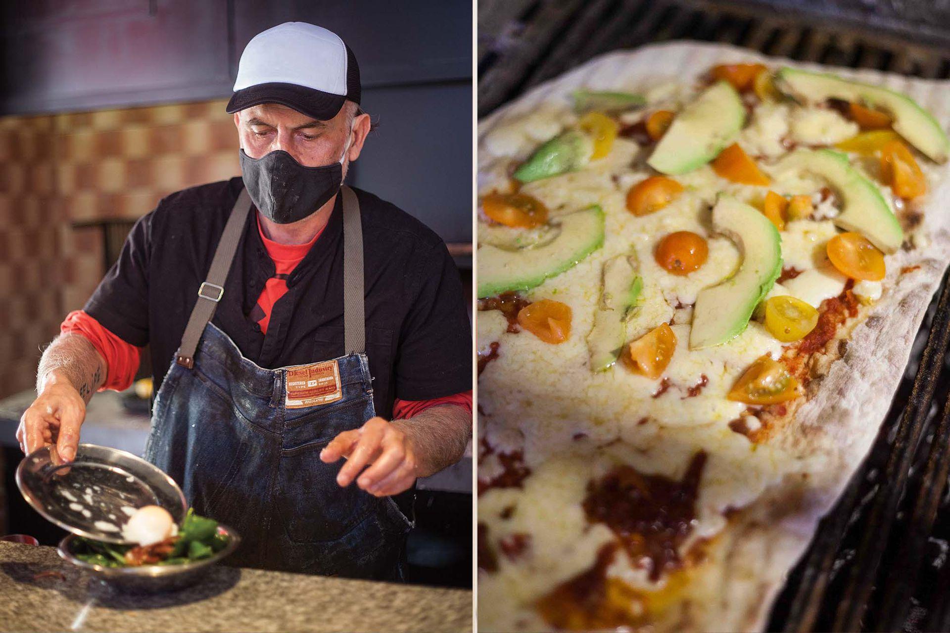 La protagonista es la pizza superliviana, crujiente y bien sabrosa.
