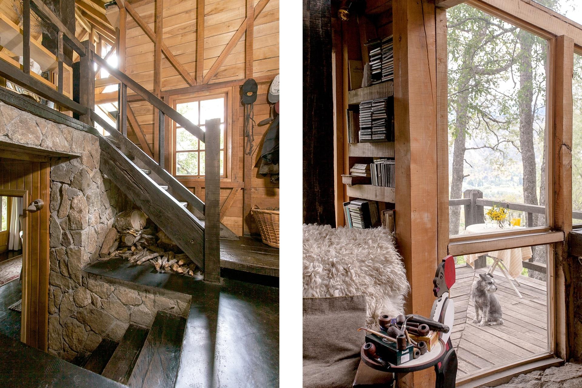 El bajoescalera se aprovechó para acopiar la madera indispensable para el invierno.