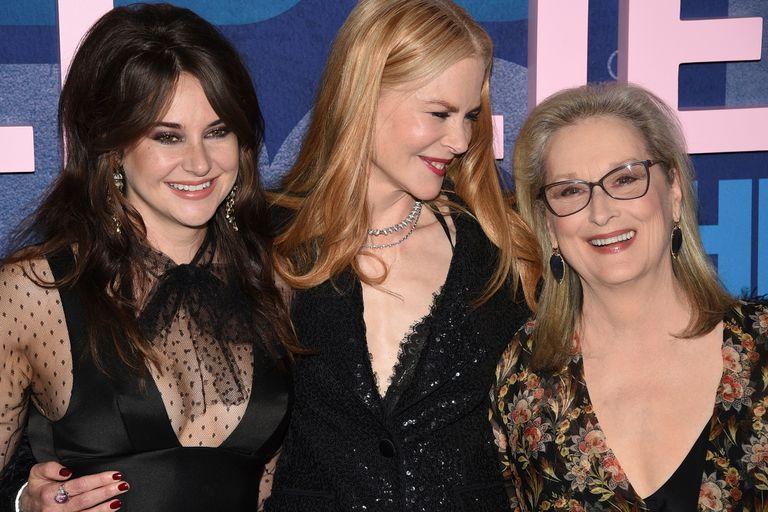 Sonrisas y abrazos para todes. Las actrices se mostraron muy felices por la segunda temporada de la serie y el ingreso de Meryl Streep a la historia