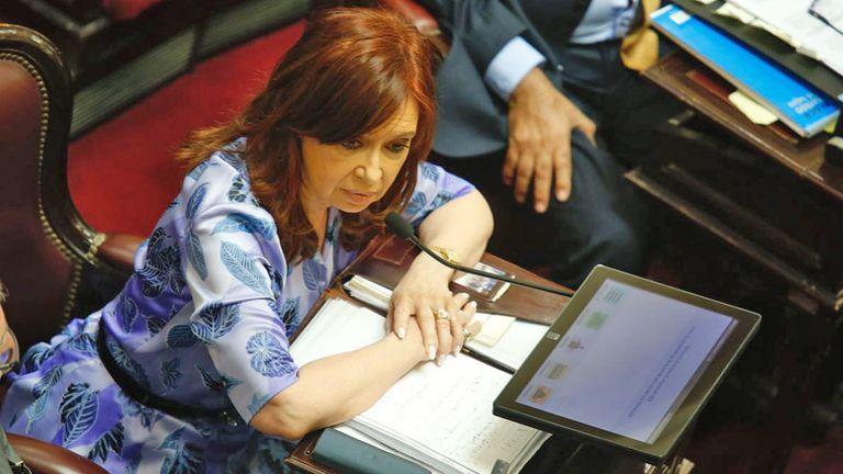 Cristina Kirchner volvió ayer al Senado