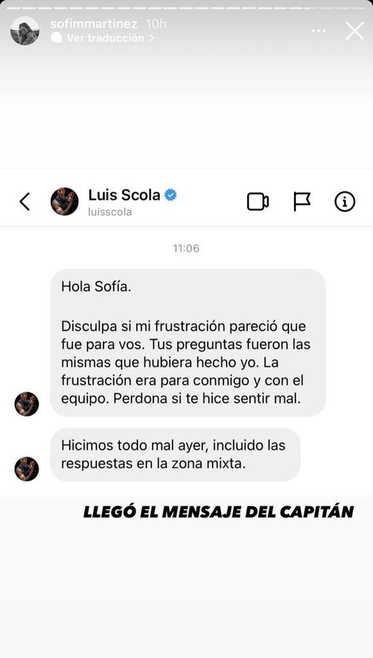 El pedido de disculpas de Luis Scola para una periodista de la TV Pública