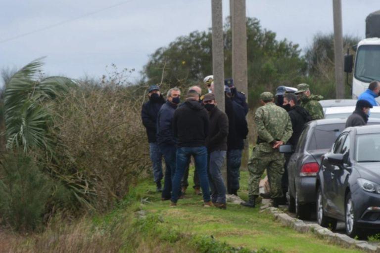 Funcionarios del gobierno uruguayo se hicieron presentes en el lugar