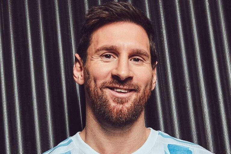 Lionel Messi y la nueva camiseta argentina