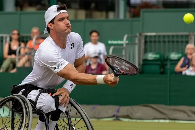 El cordobés Gustavo Fernández cayó en las semifinales de la competencia de tenis adaptado de Wimbledon.