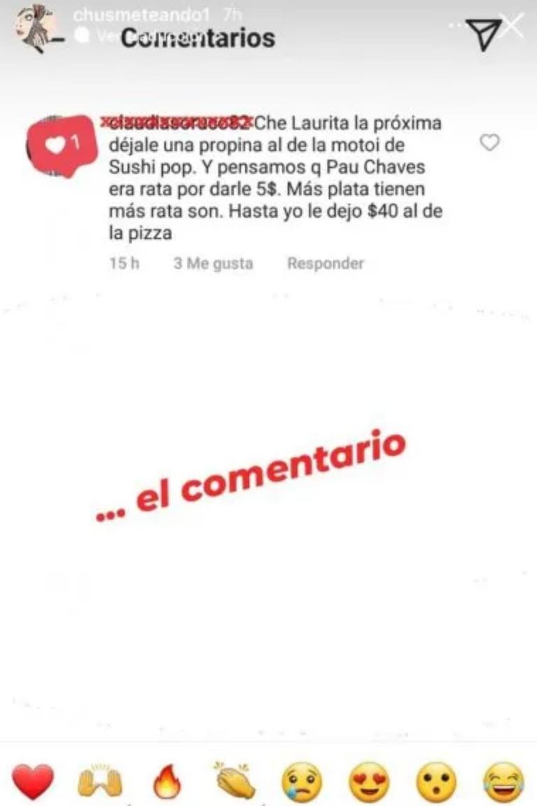 El descargo de un usuario contra Laurita Fernández