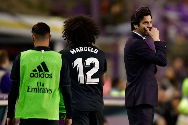 Solari hizo ingresar a Marcelo a dos minutos del final