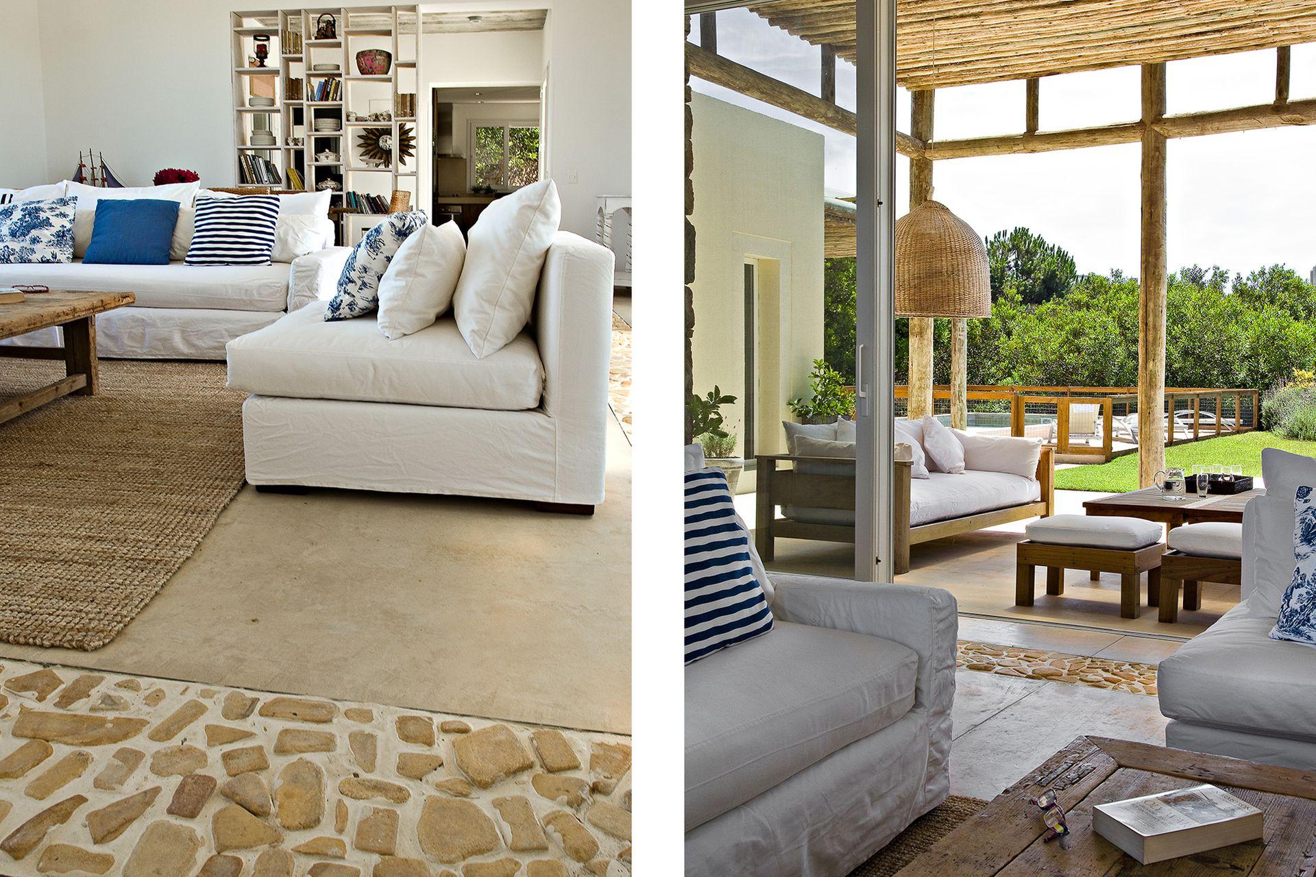 El living se conecta con la galería de forma directa. En ambos sectores, sillones para descansar en tranquilidad.