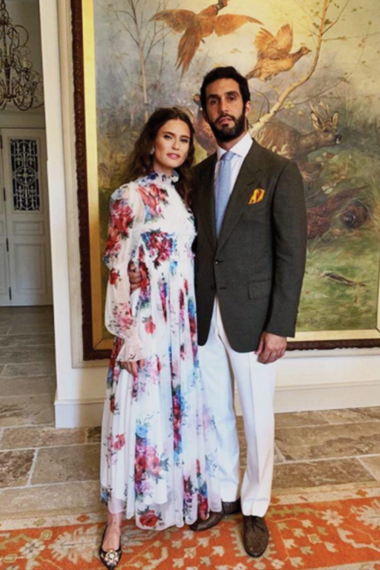 La modelo italiana Bianca Balti, con su novio Sal Lahoud.