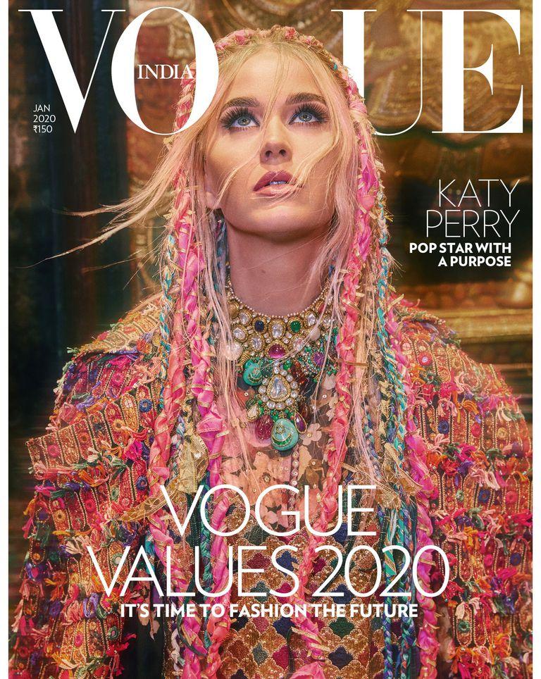 Katy Perry posó para Vogue India y habló sobre su lucha contra la depresión