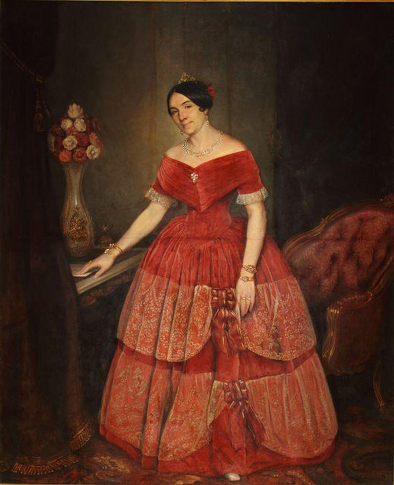 Retrato de Manuelita Rosas (1851), de Prilidiano Pueyrredón (colección MNBA)