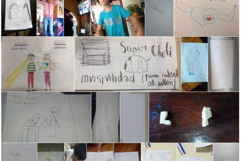 Luis Pescetti sube en pagina web los dibujos y fotos que le envían