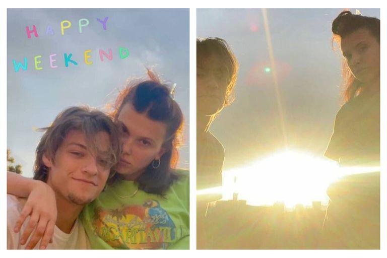 La pareja decidió publicar imágenes en del su fin de semana juntos