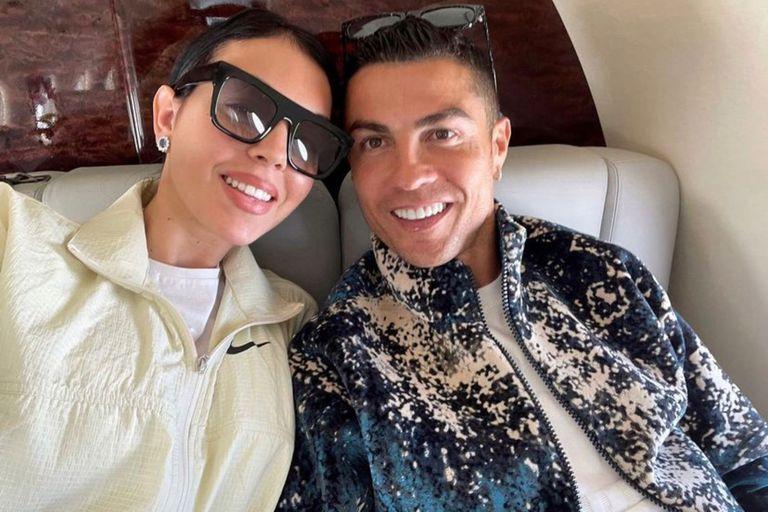 Cristiano publicó una romántica foto con su esposa Georgina