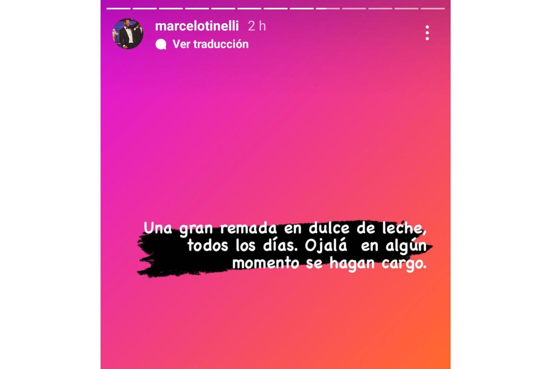 Marcelo Tinelli y su descargo en las redes. Captura de pantalla.