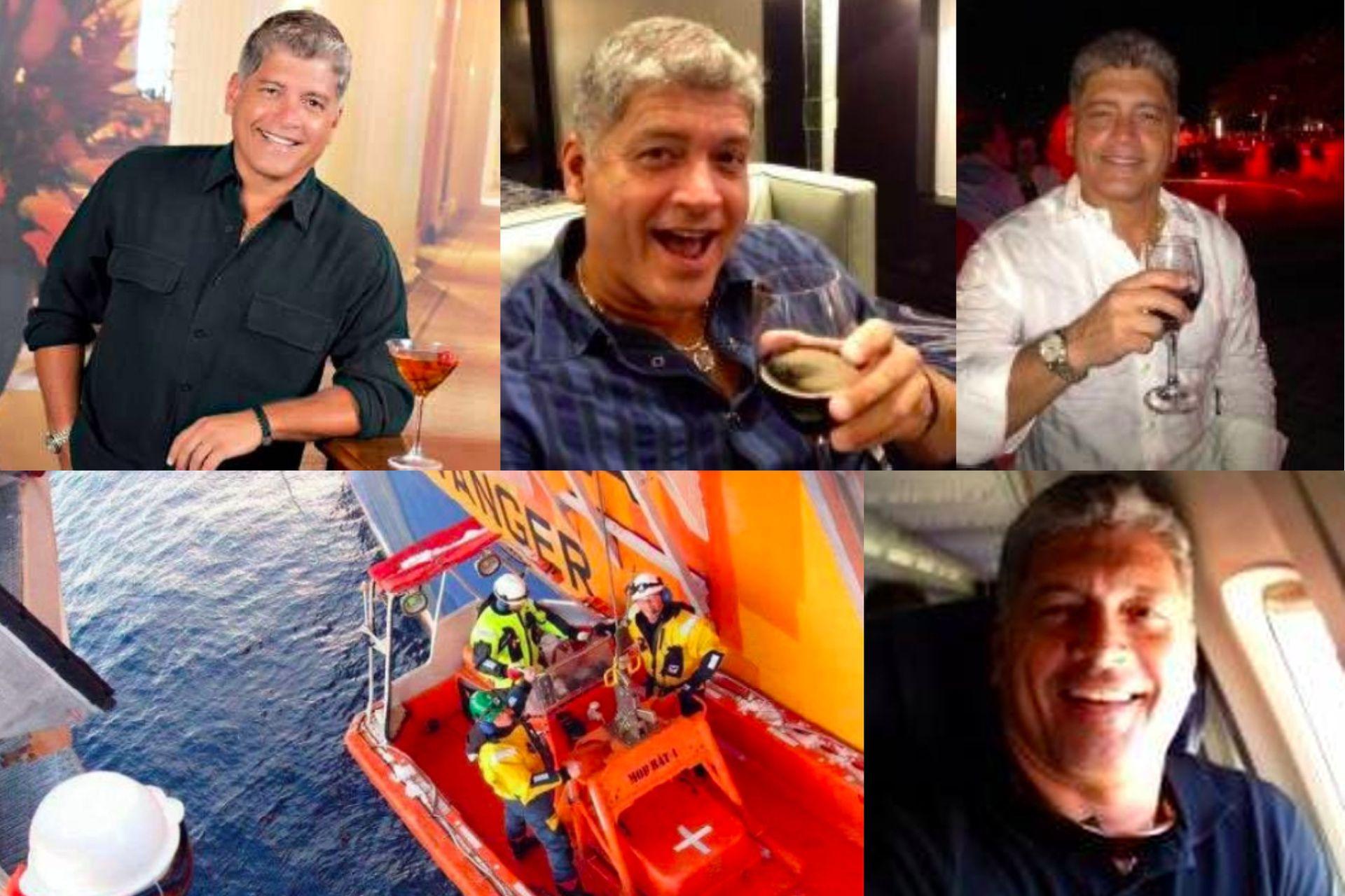 Algunas de las imágenes que le envió James Ferguson a Estela