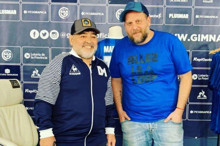 La broma a Nicolás Cayetano que terminó con un llamado entre risas de Maradona