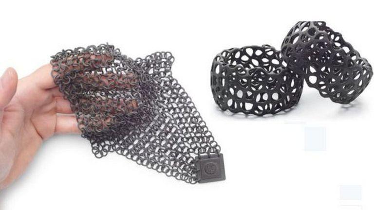Algunas de las piezas realizadas por la impresora 3D de HP