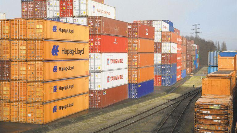 Contenedores en el puerto de Hamburgo, Alemania, uno de los mayores de Europa.