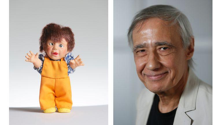 """""""Estoy rodeado de este tipo de objetos en mi taller. Este muñeco me lo regaló Rafael Cippolini y estaba en un canasto de juguetes rotos en Mar del Plata. ¿No es fascinante?"""""""