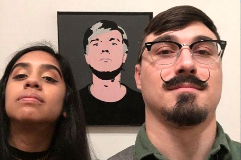 Selfie de visitantes en el Museo de Arte de Baltimore