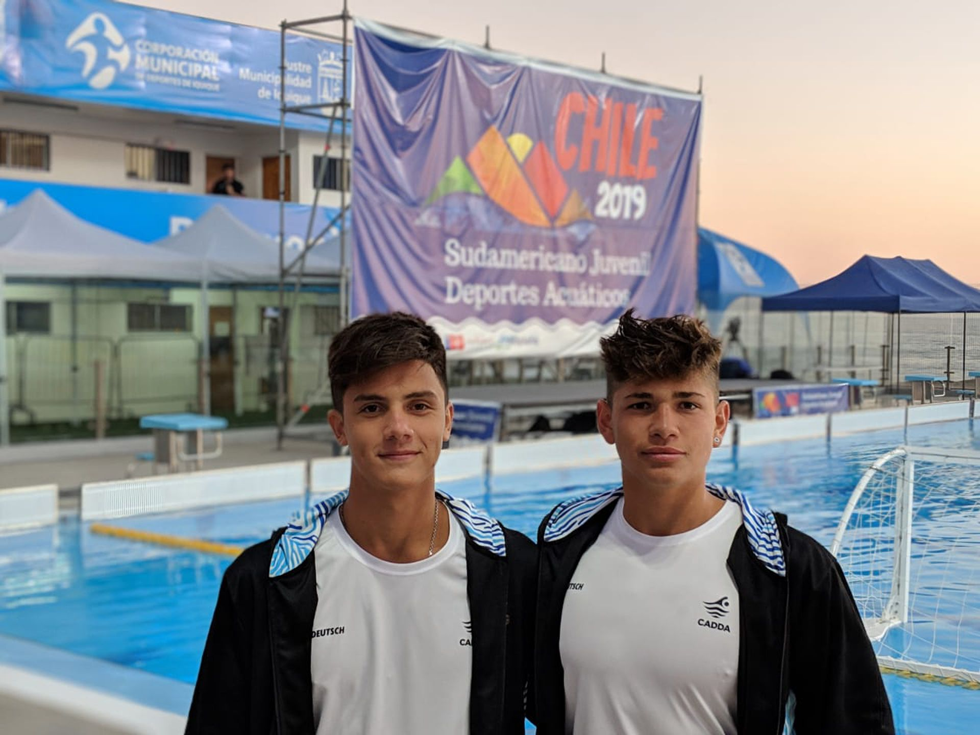 Los santafesinos Nicolás Fernández y Mateo Freyre anhelan participar del mundial de waterpolo 2021